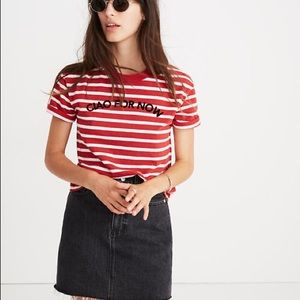 NWOT - Madewell Ciao For Now Stripe Tee